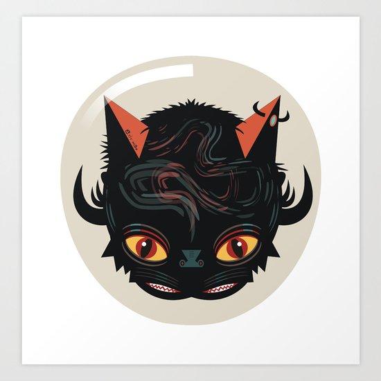 Devil cat Art Print