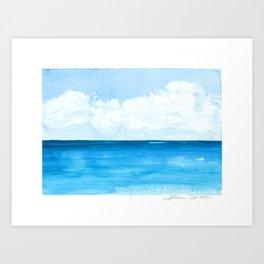 Elena's Ocean Art Print