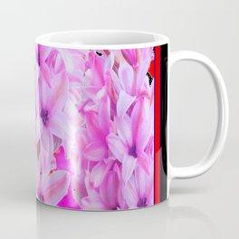 WESTERN BLACK-RED  PURPLISH-PINK ROSES & HYACINTHS Coffee Mug