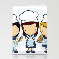 cook Stationery Cards featuring Cook by Jaqueline Teixeira