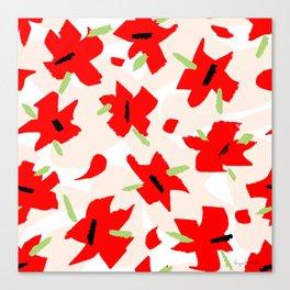 Scarlet Floral Canvas Print