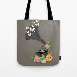 Gramaphone Bloom Tote Bag