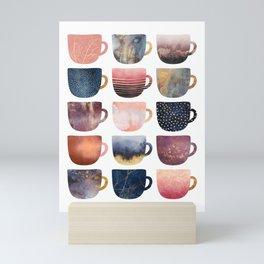 Pretty Coffee Cups 2 Mini Art Print
