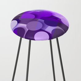 squares & dots violet Counter Stool