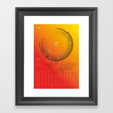 Bureau Oberhaeuser Calendar 2016 orange, german Framed Art Print