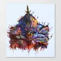 neon genesis evangelion Canvas Prints featuring Evangelion by ururuty