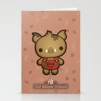 randy c Stationery Cards featuring Randy the Dirty Boar by Squid&Pig