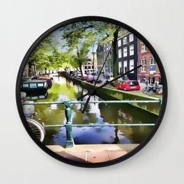 Amsterdam Canal Wall Clock