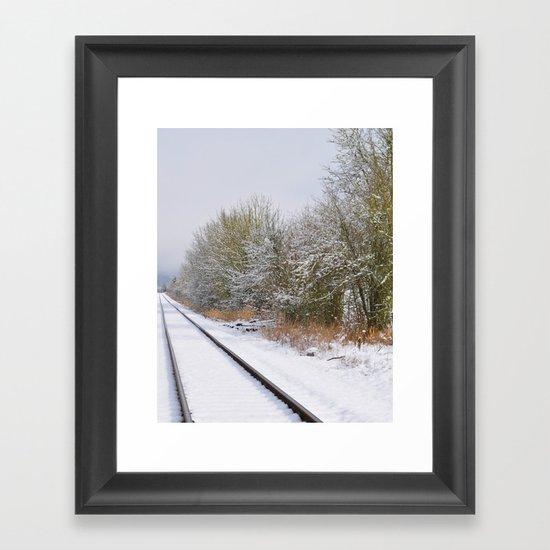 Remnants of a Simpler Time - The Tracks Framed Art Print