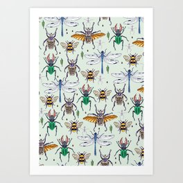 lucky insects Art Print
