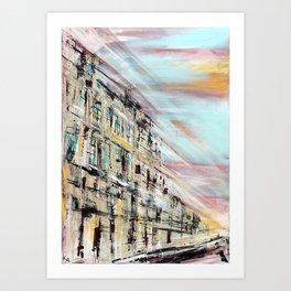 BORDEAUX Rails Art Print