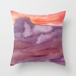 Mar de Lava Throw Pillow