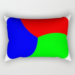Red Green Blue Thirds of of Circle Rectangular Pillow