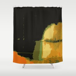 Infinity abstract art print black Shower Curtain