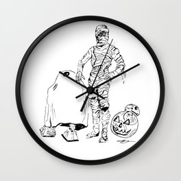 These Aren't The Droids You're Looking For? Inktober Drawing Wall Clock
