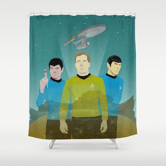 The Enterprise Trio  Shower Curtain