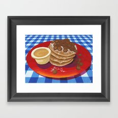 Pancakes Week 4 Framed Art Print