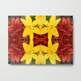 """A Gathering of Lilies"" Remix - 3 (4-1) [D4468~49] Metal Print"