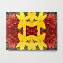 """A Gathering of Lilies"" Remix - 3 (4-1) [D4468~49] Metal Print"