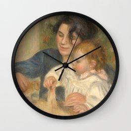 Gabrielle Renard and infant son, Jean Wall Clock
