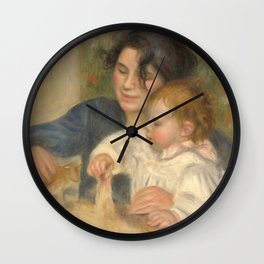 Gabrielle Renard and infant son, Jean Wall Clock
