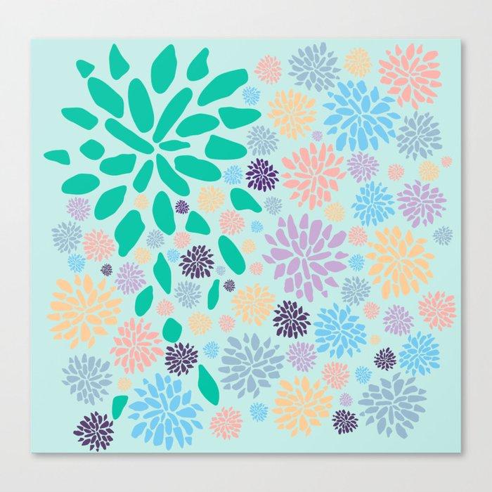 Floral Print Canvas Print