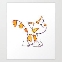Bonbon Happy Cat by Emma Parrish Art Print