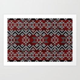 Red Aztec Art Print