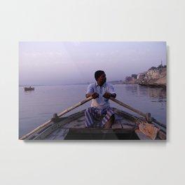 On The Ganges Metal Print