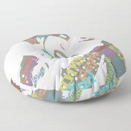 Happy woman II Floor Pillow