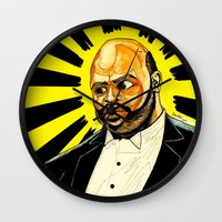 "fresh prince Wall Clocks featuring Fresh Prince - ""The Ascension of James/Phil"" by hawkeyesour"