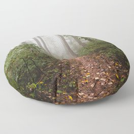 Smoky Mountain Forest Adventure III - National Park Nature Photography Floor Pillow