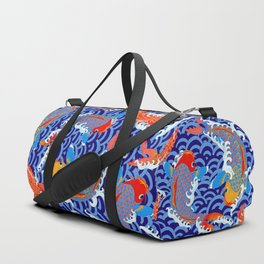 Koi fish / japanese tattoo style pattern Duffle Bag