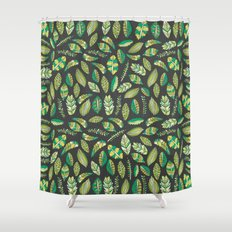 Night Tropical Jungle Shower Curtain