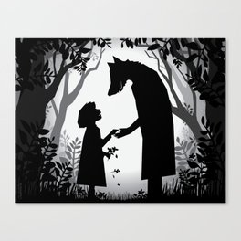 Meeting The Wolf Canvas Print