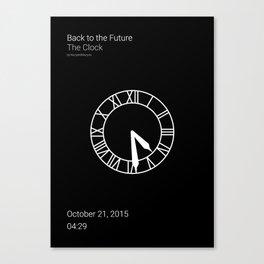 Clock BTTF Canvas Print