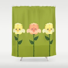 Kawaii Rose Friends  Shower Curtain