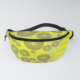 Space Spirals yellow Design Fanny Pack