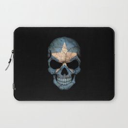 Dark Skull with Flag of Somalia Laptop Sleeve