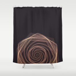 Geometric Rose Shower Curtain