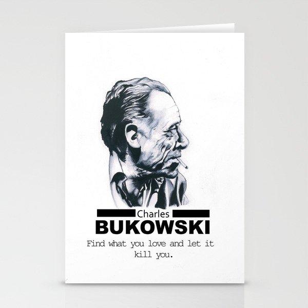 Charles Bukowski Stationery Cards