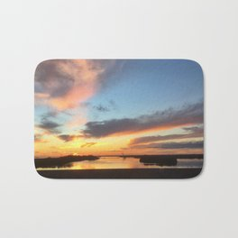 South Jersey Parkway Skies Bath Mat