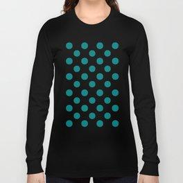 Polka Dots (Teal/White) Long Sleeve T-shirt