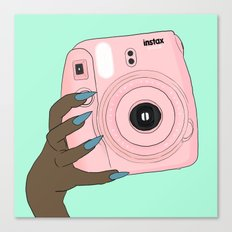 pink instax Canvas Print