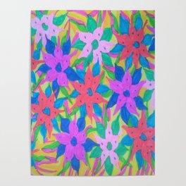 Tropical Rain Flowers Poster
