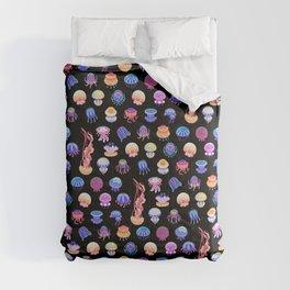 Jellyfish Day - dark Comforters