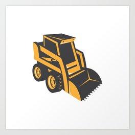 skid steer digger truck Art Print
