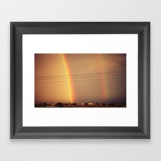 Dos Rainbows Framed Art Print