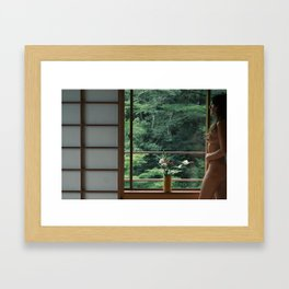 Slow morning Framed Art Print