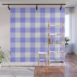LARGE GINGHAM BLUE Wall Mural